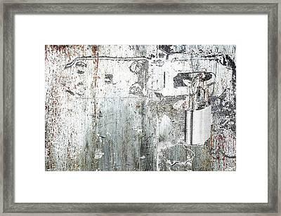 Lock Framed Print by Tony Rubino