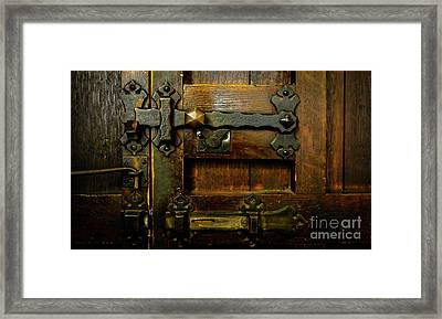 Locked And Bolted Framed Print