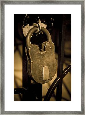 Framed Print featuring the photograph Locked Away by Christi Kraft