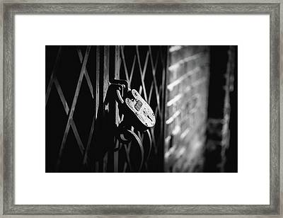 Locked Away Framed Print