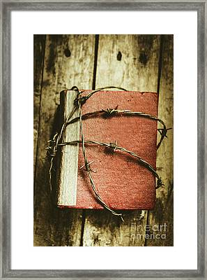 Locked Diary Of Secrets Framed Print