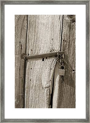 Locked Door Framed Print by Pat Carosone