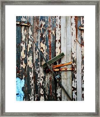 Locked Door Framed Print by Perry Webster