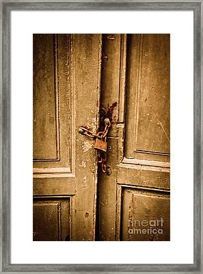 Locked Framed Print by Gabriela Insuratelu