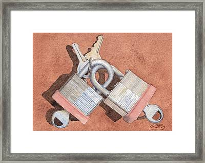 Locked In An Embrace Framed Print by Ken Powers