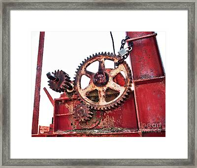 Framed Print featuring the photograph Locked In History by Stephen Mitchell