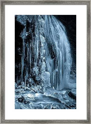 Locked In Ice Framed Print