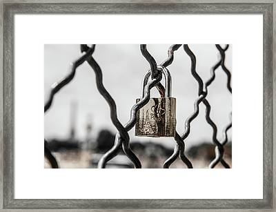 Locked In Paris Framed Print