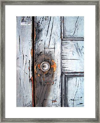 Locked Framed Print