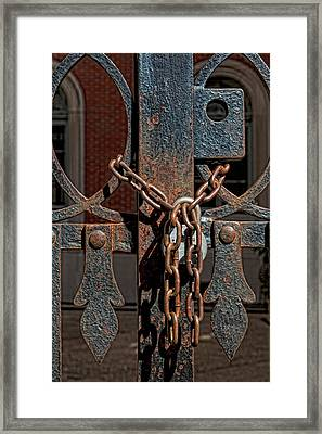 Locked Framed Print by Robert Ullmann