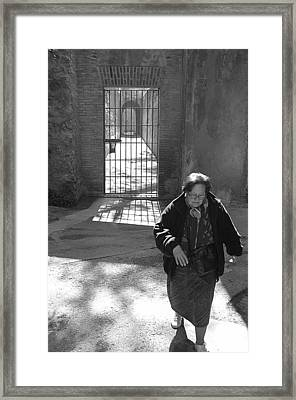 Locked The Gate Now Time To Get On With My Life Framed Print by Jez C Self