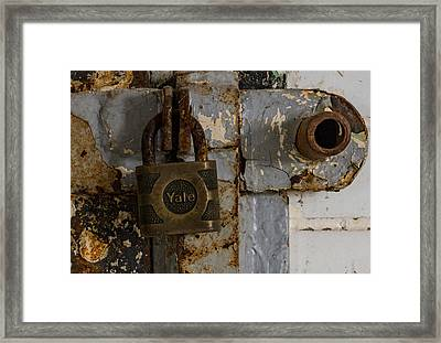 Locked Tight Framed Print by Denise McKay