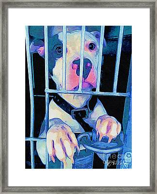 Framed Print featuring the digital art Locked Up by Kathy Tarochione