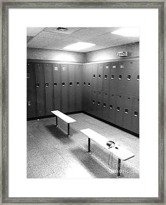 Locker Room Framed Print by WaLdEmAr BoRrErO