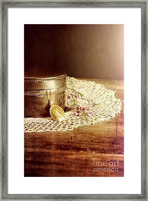 Locket And Box Framed Print by Jill Battaglia