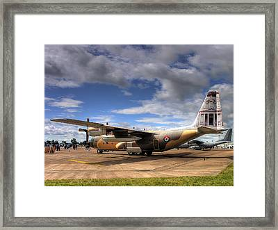 Lockheed C130h Of The Royal Jordanian Airforce. Framed Print by Mike Lester