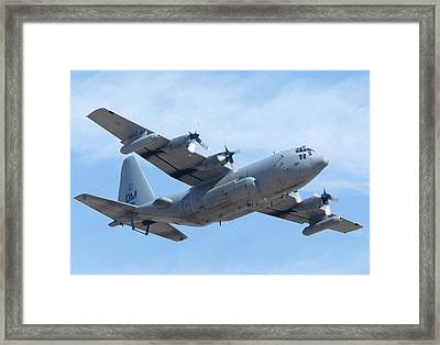 Lockheed Ec-130h Compass Call Hercules 73-1584 Davis-monthan Afb Arizona March 8 2011 Framed Print