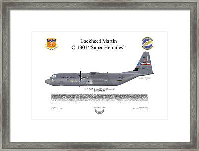 Lockheed Martin C-130j-30 Super Hercules Framed Print by Arthur Eggers