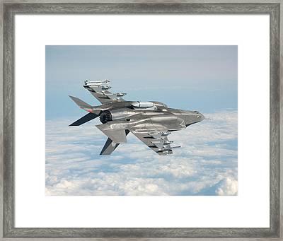 Lockheed Martin F-35 Lightening II Joint Strike Fighter Underbelly Framed Print