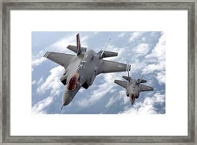 Lockheed Martin F-35 Lightening II Joint Strike Fighters Framed Print