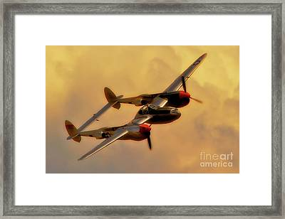 Lockheed P-38 Lightning 2011 Chino Air Show Framed Print by Gus McCrea