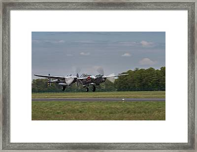 Lockheed P-38 Lightning Framed Print by Robert Krajnc