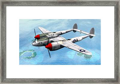 Lockheed P-38 Lightning Framed Print