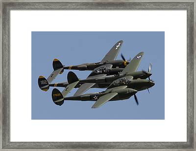 Lockheed P-38 Lightnings Glacier Girl And Skidoo Framed Print