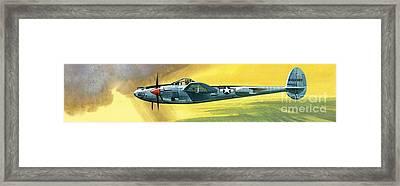 Lockheed P-38j Lightning Framed Print by Wilf Hardy