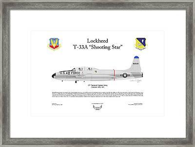 Lockheed T-33a Shooting Star Framed Print