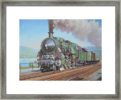 Loco By The Lake. Framed Print