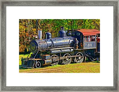 Locomotive 201 Framed Print by Dennis Cox WorldViews