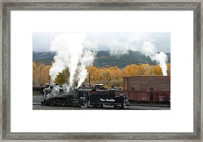 Locomotive At Chama Framed Print