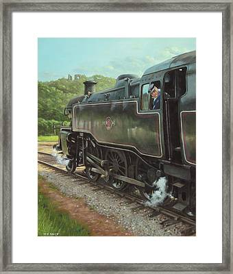 Locomotive At Swanage Railway Framed Print
