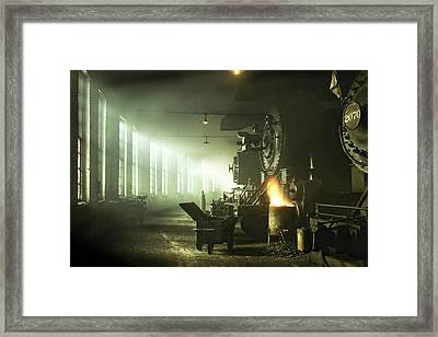 Locomotive Breath Framed Print by Peter Chilelli