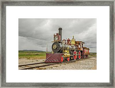 Framed Print featuring the photograph Locomotive No. 119 by Sue Smith