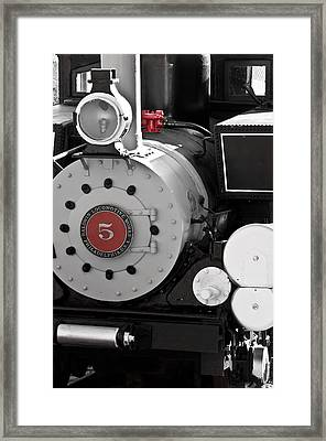 Locomotive Number Five Framed Print