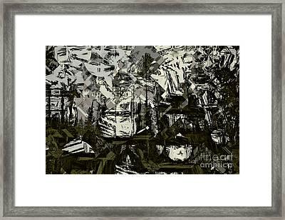 Lodgepole Pine Cubism  Framed Print