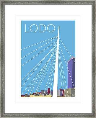 Lodo/blue Framed Print