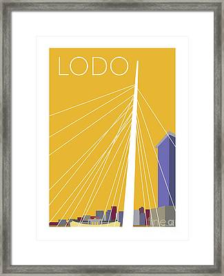 Lodo/gold Framed Print