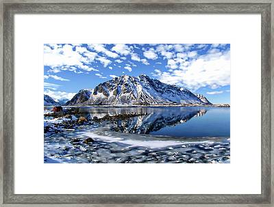 Lofoten Winter Scene Framed Print