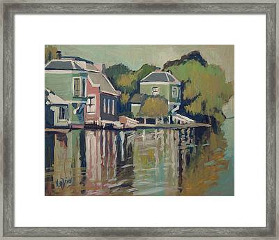 Lofts Along The River Zaan In Zaandam Framed Print