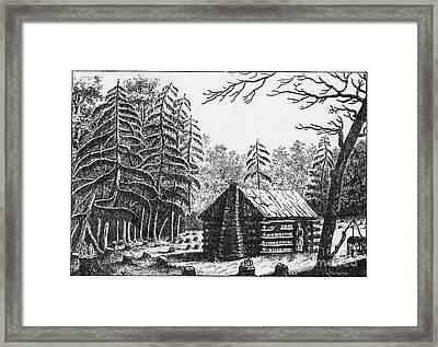 Log Cabin, 1826 Framed Print