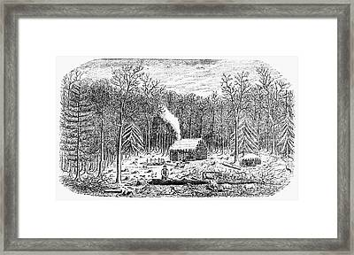 Log Cabin, C1800 Framed Print by Granger