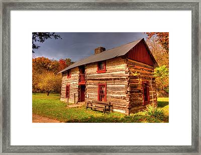 Log Cabin Dog Trot  Framed Print by Paul Lindner