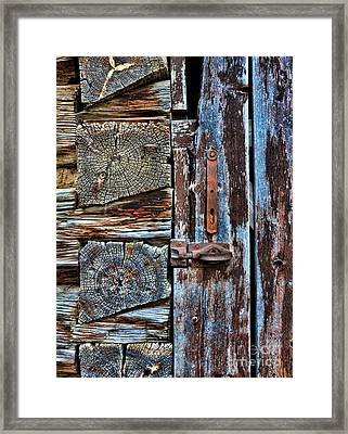 Log Cabin Door Framed Print