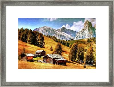 Log Cabin Home By Sarah Kirk Framed Print