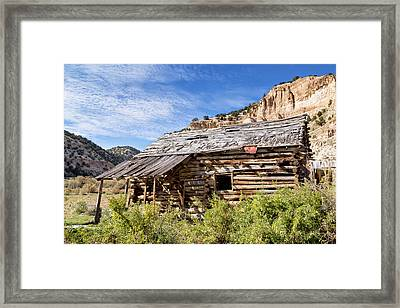 Log Cabin In Indian Canyon Framed Print