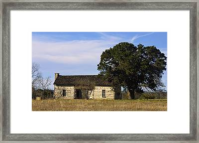 Log Cabin In The Sky Framed Print by Linda Phelps