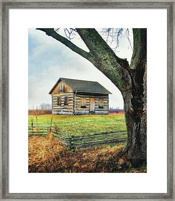 Log Cabin - Paradise Springs - Kettle Moraine State Forest Framed Print